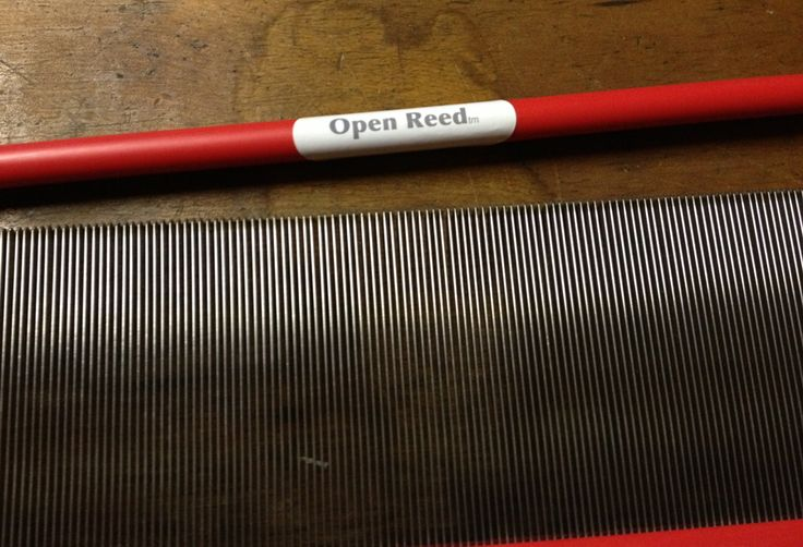 The Open Reed™. Allows for easy threading and moving warp spacing while weaving
