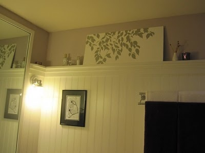 High Up Wainscoting With A Shelf Perfect Accent Wall Idea