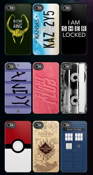 Fandom phone cases. I want 4 of these. It's up to you to decide which 4.