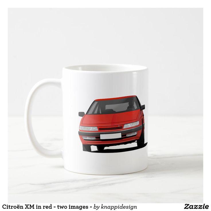 Citroën XM in red - two images - coffee mug   #citroen #citroën #citroenxm #citroënxm #european #futureclassics #automobile #automobiles #car #auto #bilar #automobileillustration #carillustration #coffee mug #citroenmug #red