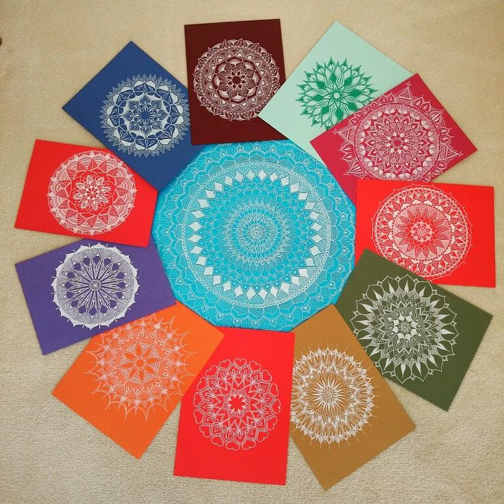 You can never have/draw to many mandalas!