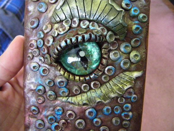 Dragon Eye Journal polymer clay journal sculpey by chantellenay