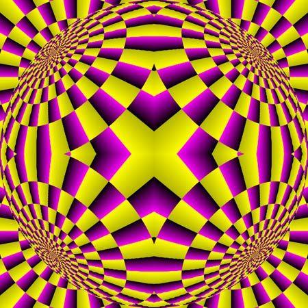 Variedad De Ilusiones Opticas Con Movimiento