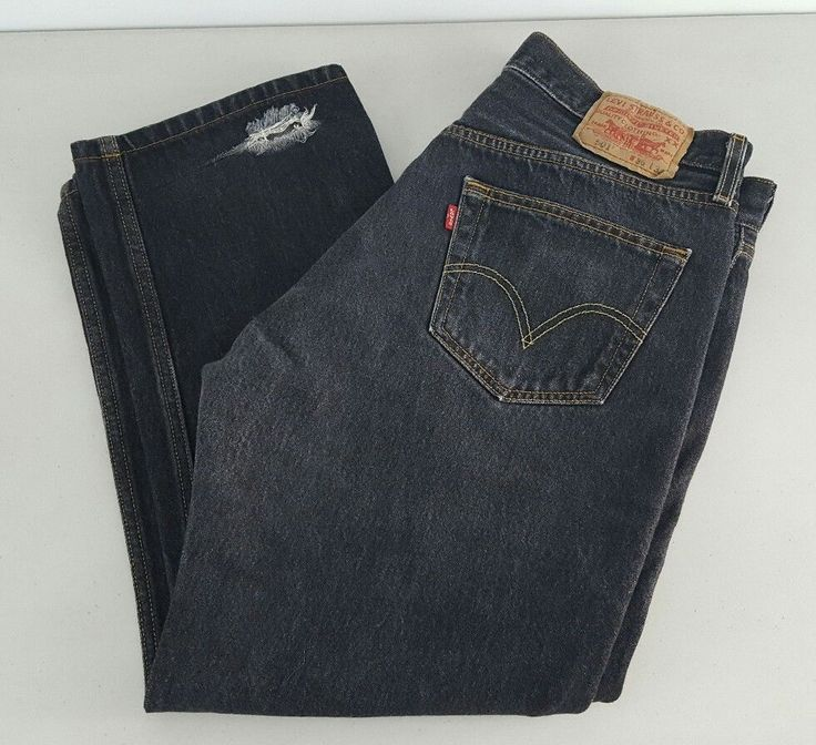 Levis 501 Denim Button Fly Mens Size 36x32 Altered 36x26 | Clothing, Shoes & Accessories, Men's Clothing, Jeans | eBay!