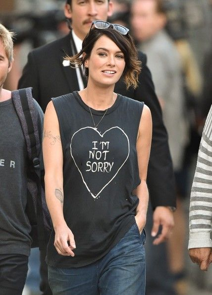 Lena Headey - Lena Headey Heads to 'Jimmy Kimmel Live!'