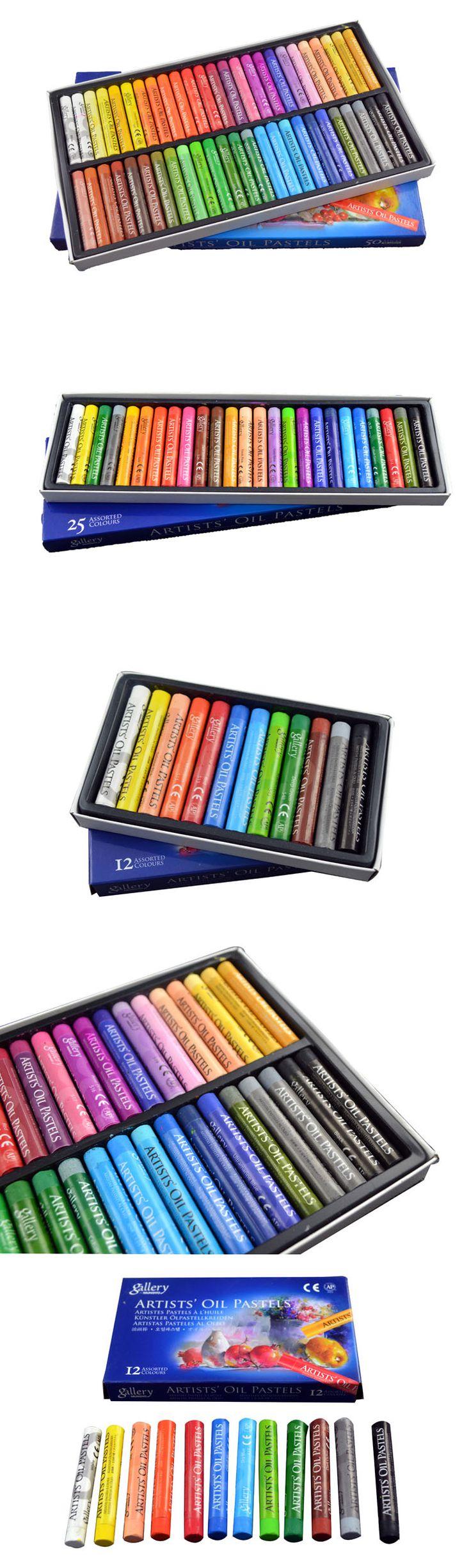Ассорти 12 / 25 / 48 цвета Artists' круглые пастель комплект канцелярские школьные принадлежности для рисования детей подарок купить на AliExpress