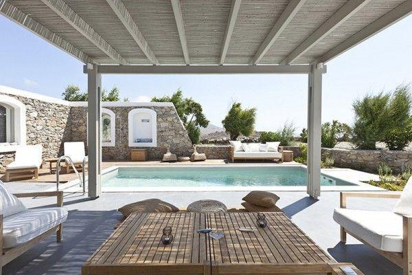 Villa Kalliopi Greece holiday home stunning Mediterranean view swimming pool wood