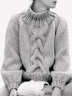 Contemporary Knitwear - chunky cable sweater // I Love Mr. Mittens