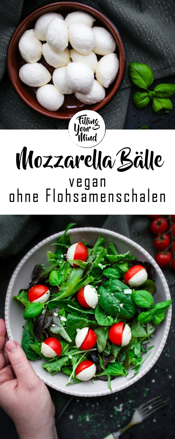Vegane Mini Mozzarella Bälle – ein optisches Highlight! #vegancheese #vegan …   – Vegan