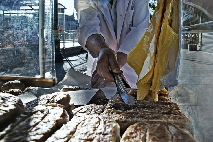 Turkish sausage roll Istanbul, Turkey 2012