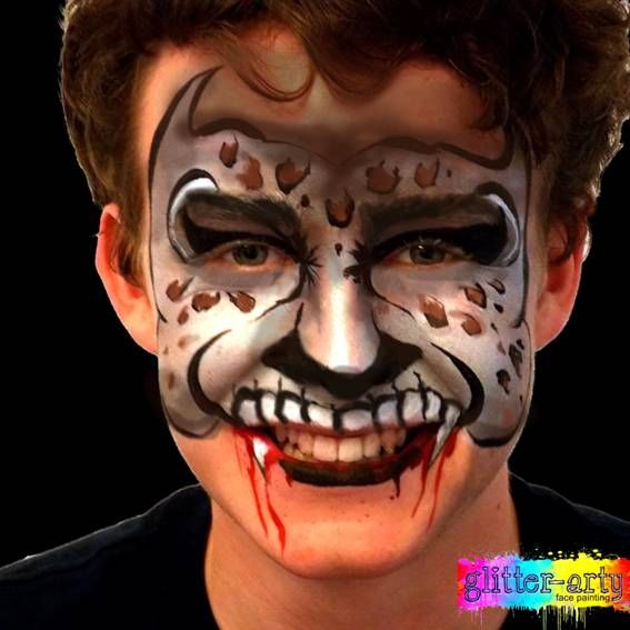 Hybrid creature face painting by Glitter-Arty Face painting Bedford Bedfordshire