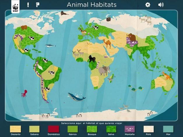 """Madrid, 14 jun (EFEverde).- Conocer hasta 200 animales de forma entretenida para fomentar el respeto e interés hacia la fauna y naturaleza, es la propuesta de """"Animal Habitats"""", una nueva aplicación para niños en las tabletas iPad que hoy se lanza, con la colaboración de WWF."""