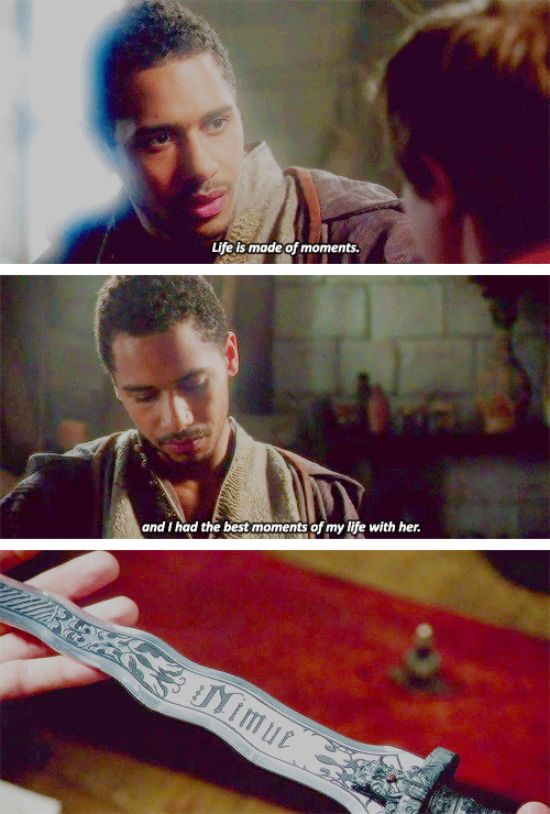 """""""Life is made of moments"""" - Merlin and his young apprentice  #OnceUponATime"""
