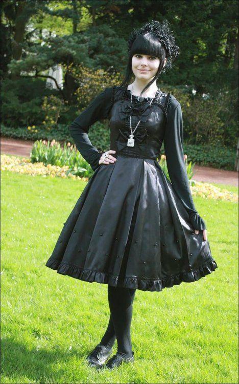 egl, lolita, goth, gothic, black, dress, do want, style icon