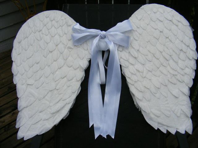 Make Easy Angel Wings Out Of Coffee Filters And Cardboard