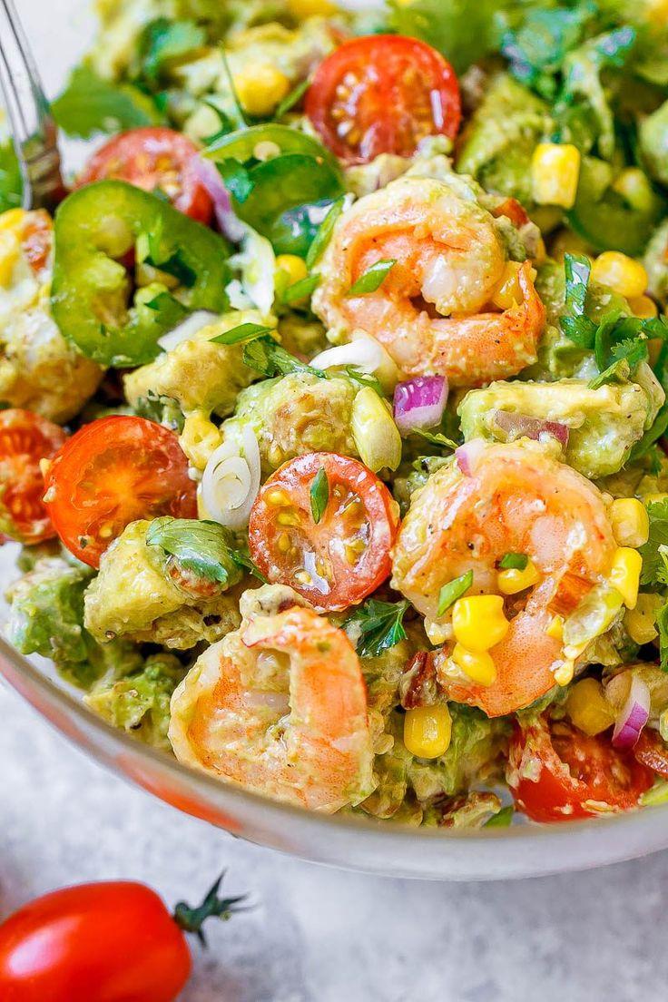 Shrimp Avocado Corn Salad with Summer Vinaigrette