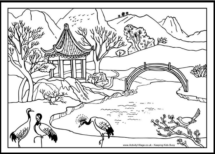 china coloring pages free | 72 best Chinese coloring pages images by Yawen Lien on ...