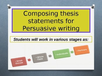 composing a good thesis statement Writing a good thesis statement it is important to demonstrate the difference between good and bad thesis statements these instructions will help you teach the former.