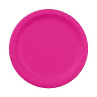 Shop Hex Code Web Color Hot Pink Business Paper Plate created by HexColorsCode.  sc 1 st  Pinterest & 15 best Plain Colored Paper Plates images on Pinterest | Colored ...