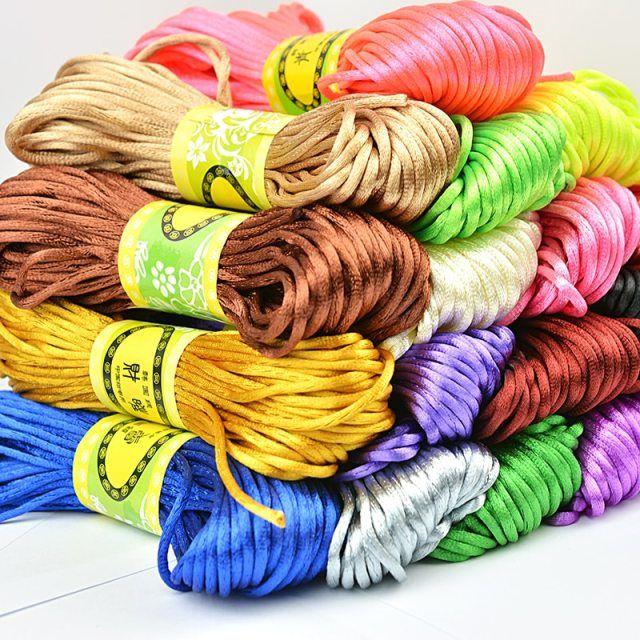 24 meters of flesh shamballa nylon cord