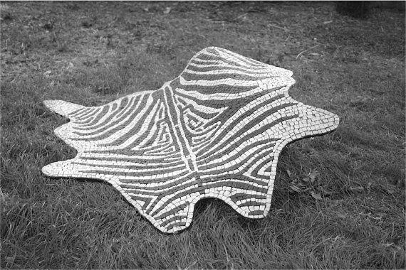 mosaic rug / Flexible rug stone mosaic / by LaTenagliaImpazzita
