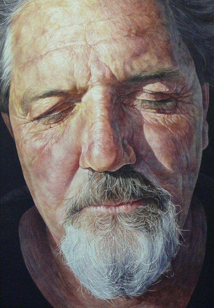 "Saatchi Art Artist: Jason Butler; Watercolor 2012 Painting ""'Greene'"" 36 H x 28 W x 2 in"