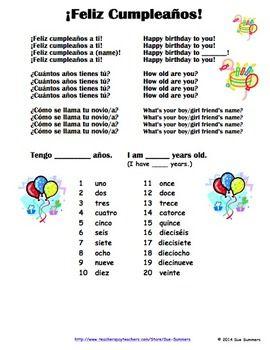 how to write happy birthday in spanish