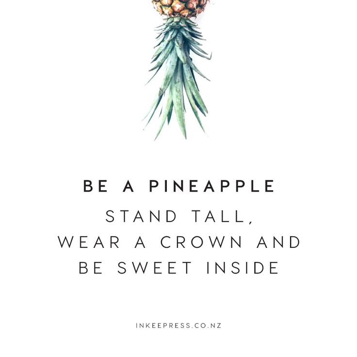 Be a Pineapple Quote | ww.inkeepress.co.nz