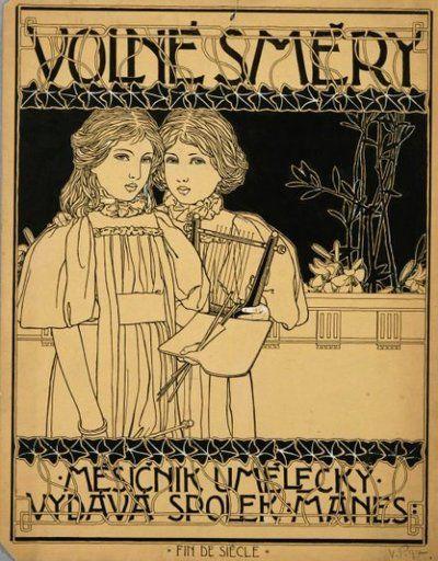 Proposal fro the cover of Volné směry | Vojtěch Preissig | Uměleckoprůmyslové museum v Praze | CC0