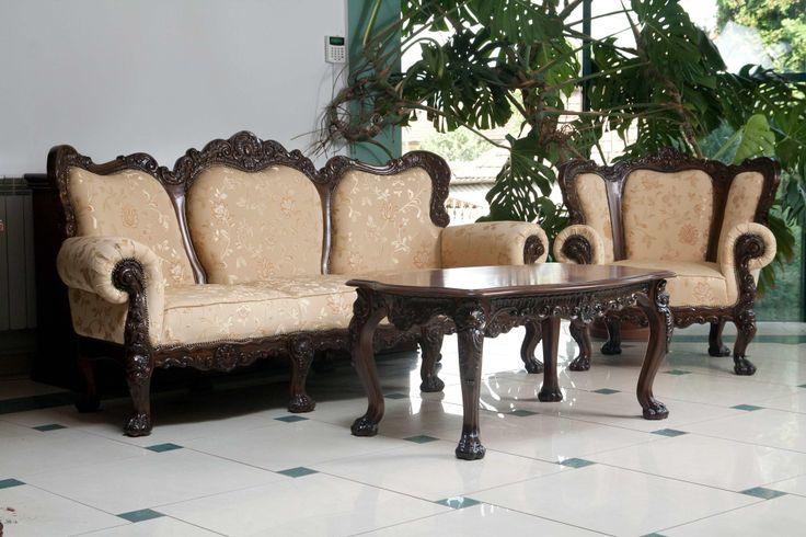 Set Canapea fotoliu si masuta cafea SOFIA | #Mobila