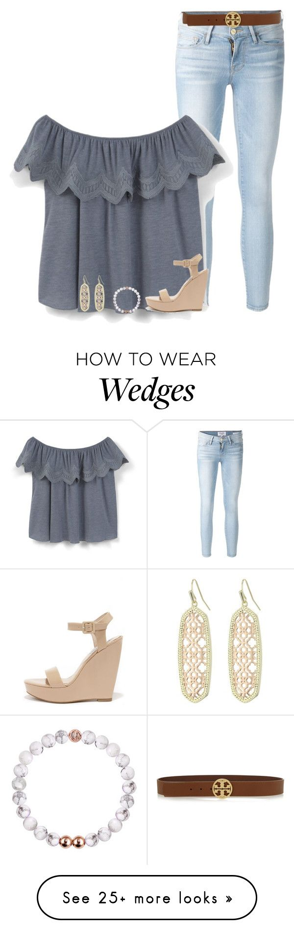 """"" by serenag123 on Polyvore featuring Frame Denim, MANGO, Steve Madden, Kendra Scott and Tory Burch"