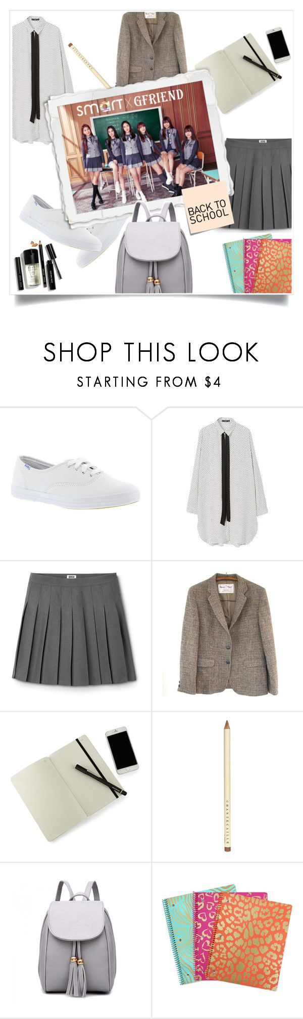 """""""Back to school"""" by elisabetta-negro ❤ liked on Polyvore featuring Keds, MANGO, Moleskine, Chantecaille, Post-It, Bobbi Brown Cosmetics and BackToSchool"""