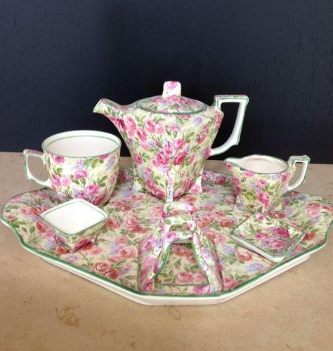 Royal Winton Chintz Breakfast Set June Roses