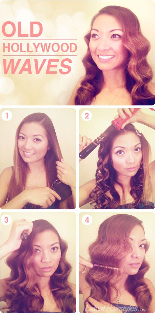 How to Create Gorgeous, Old Hollywood Waves! Extra product and styling tips here... http://www.latest-hairstyles.com/tutorials/old-hollywood-waves.html