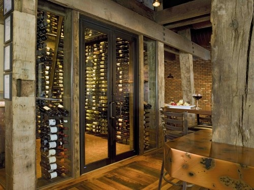 Like the stacking in the wine cellarBathroom Design, Green Home, Kitchens Design, Closets Design, Tuscan Design, Home Design, Wine Room, Wine Cellars, Wood Beams
