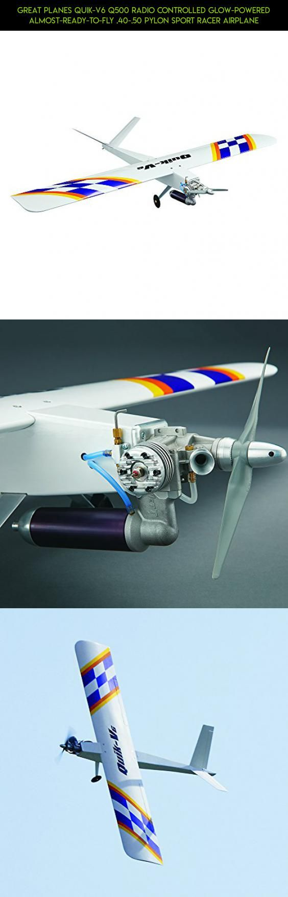 Great Planes Quik-V6 Q500 Radio Controlled Glow-Powered Almost-Ready-to-Fly .40-.50 Pylon Sport Racer Airplane #great #technology #sport #tech #drone #products #plans #shopping #fpv #racing #gadgets #camera #ultra #planes #parts #kit