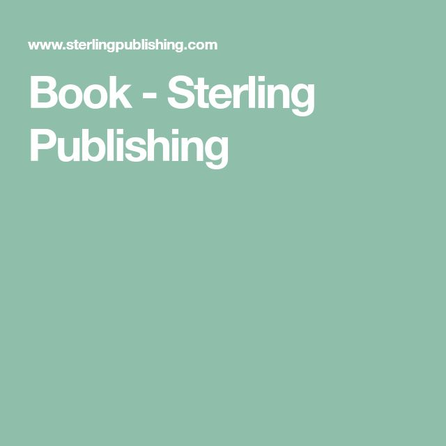 Book - Sterling Publishing