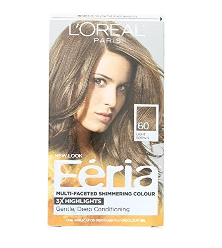 Loreal Feria - 60 Crystal Brown (Light Brown), (Pack of 3) -- This is an Amazon Affiliate link. Details can be found by clicking on the image.