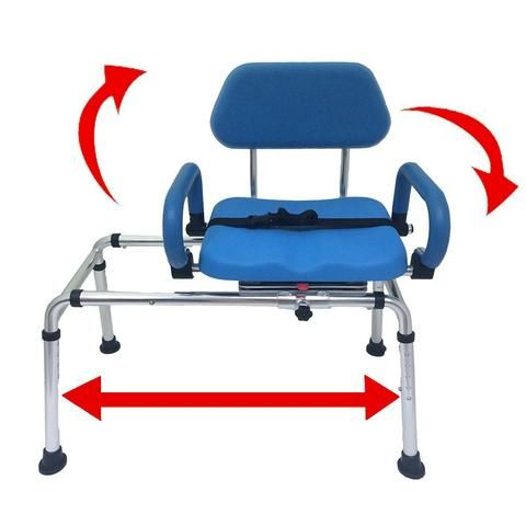Carousel Sliding Transfer Bench with Swivel Seat. ***FREE ONLINE BONUS | Platinum Health Group