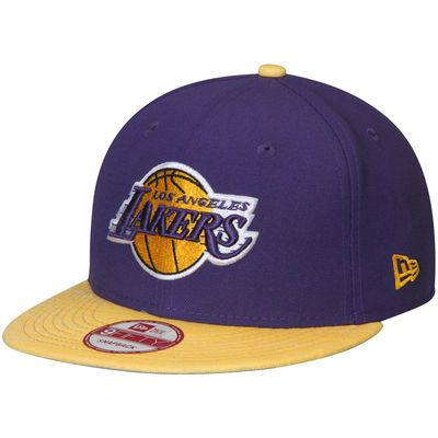 Men's New Era Purple/Gold Los Angeles Lakers Current Logo Team Solid 9FIFTY Snapback Adjustable Hat