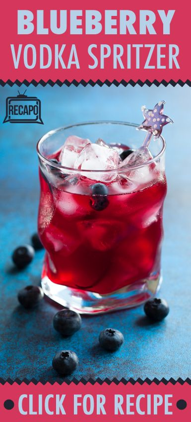 This tasty, refreshing Blueberry Vodka Spritzer only takes 6 ingredients. This cocktail is perfect for summer parties, and goes great with 4th of July decor!