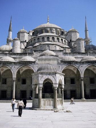 Blue Mosque (Sultan Ahmet Mosque), Unesco World Heritage Site, Istanbul, Turkey, Eurasia Lámina fotográfica por Michael Short en AllPosters.es