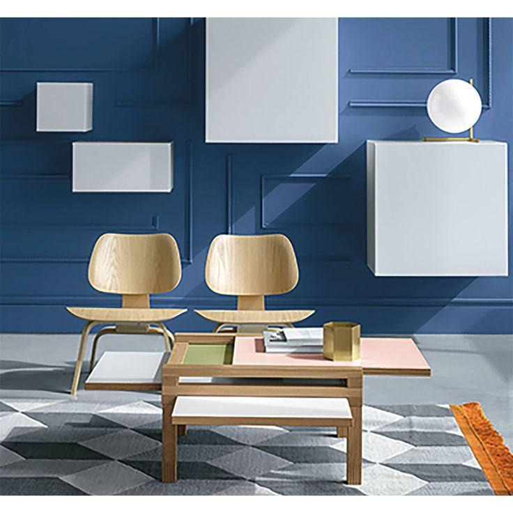 Par4 är ett platsbesparande kaffebord i trä, ett modernt vardagsrumsbord kan…