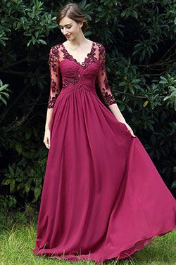 eDressit Fuchsia Floral Mother of the Bride Occasion Dress (26170317) - USD 179.99