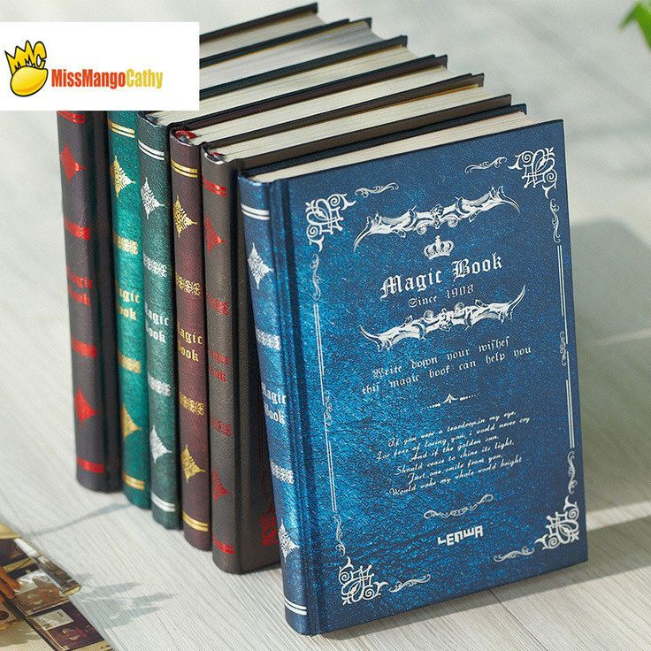 """Details about """"Magic Book"""" 1pc Vintage Hard Cover Diary"""