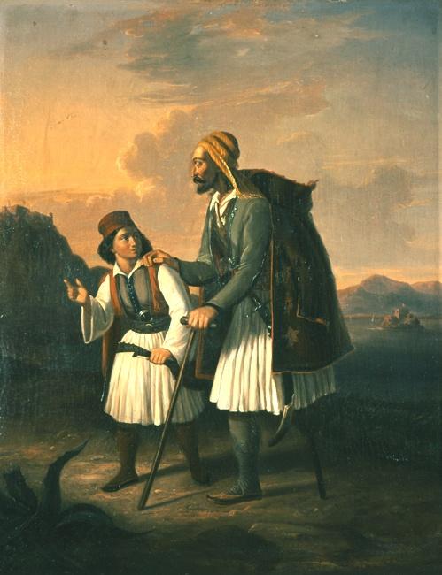 Βρυζάκης Θεόδωρος (1819 - 1878)  Τυφλός τραυματίας, [1850].Λάδι σε μουσαμά. Συλλογή Εθνικής Πινακοθήκης.       Vryzakis Theodoros (1819 - 1878)  Blinded Man, [1850]. Oil on canvas. NAtional Gallery collection.
