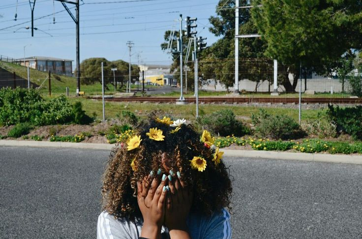 #flower #yellow #natural #curls #sunny #adidas