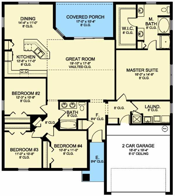 Four Bedroom House Plans plan 59068nd neo traditional 4 bedroom house plan Plan 82108ka Four Bedroom Southern House Plan