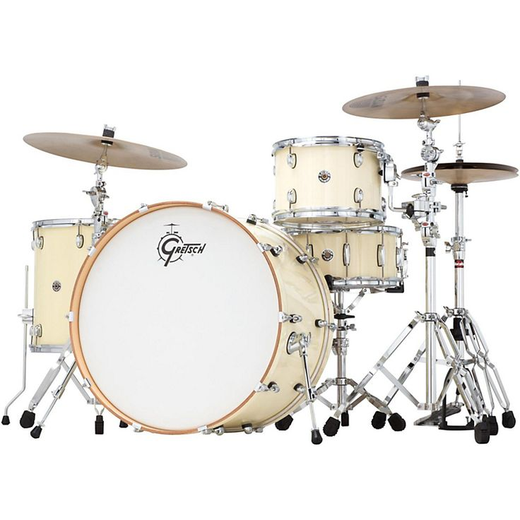 "Gretsch Drums Catalina Club Rock 4-Piece Shell Pack with 24, in ""White Chocolate."" I love the color, and I need a 24"" kick."