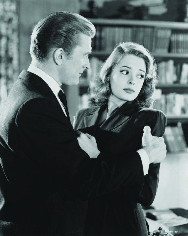 Kirk Douglas and Jane Greer in Out of the Past, oh that movie was so good.